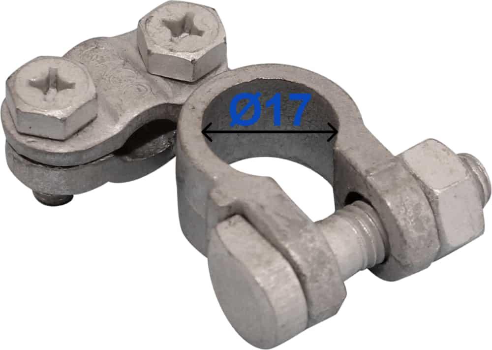 Batteri Polsko minus 17 mm venstre vinklet 204002 Raco