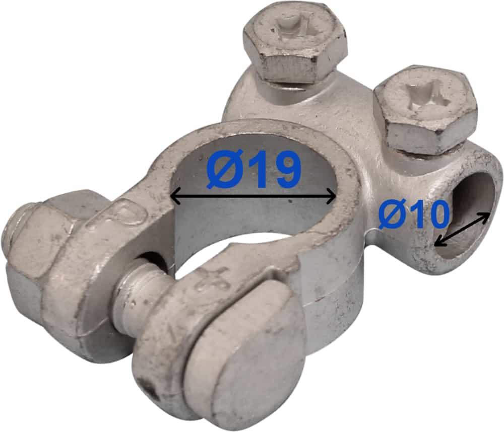 Batteri Polsko plus 19 mm 10 mm kabel hul 205000 Raco