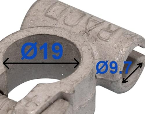 Batteri Polsko plus 19 mm 9,7 mm kabel rille 211000 211500 RACO