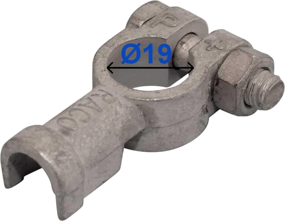 Batteri Polsko plus 19 mm Loddetilslutning 217500 RACO