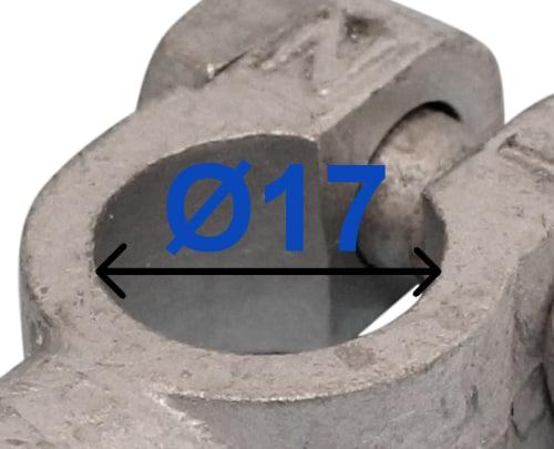 Batteri Polsko minus 17 mm Loddetilslutning 218500 RACO