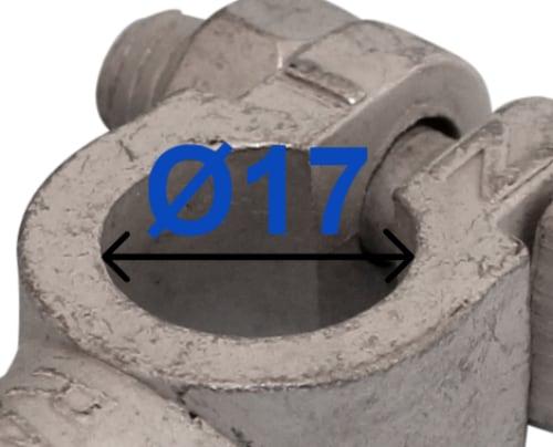 Batteri Polsko minus 17 mm DIN/USA Quick 226000 RACO