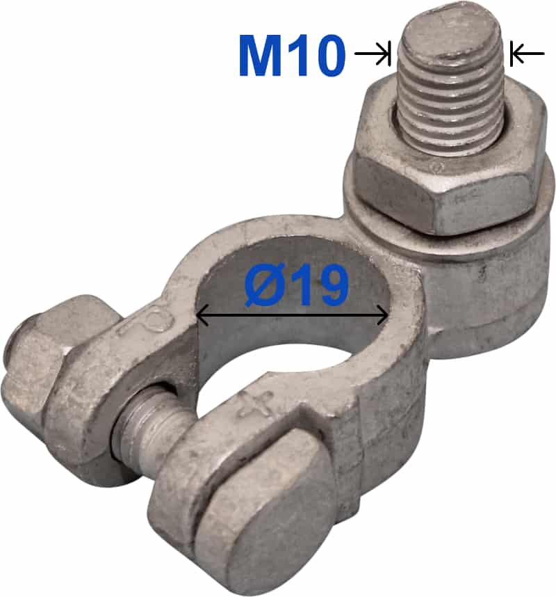 Batteri Polsko plus 19 mm Bolt M10 x 22 mm 227000 RACO