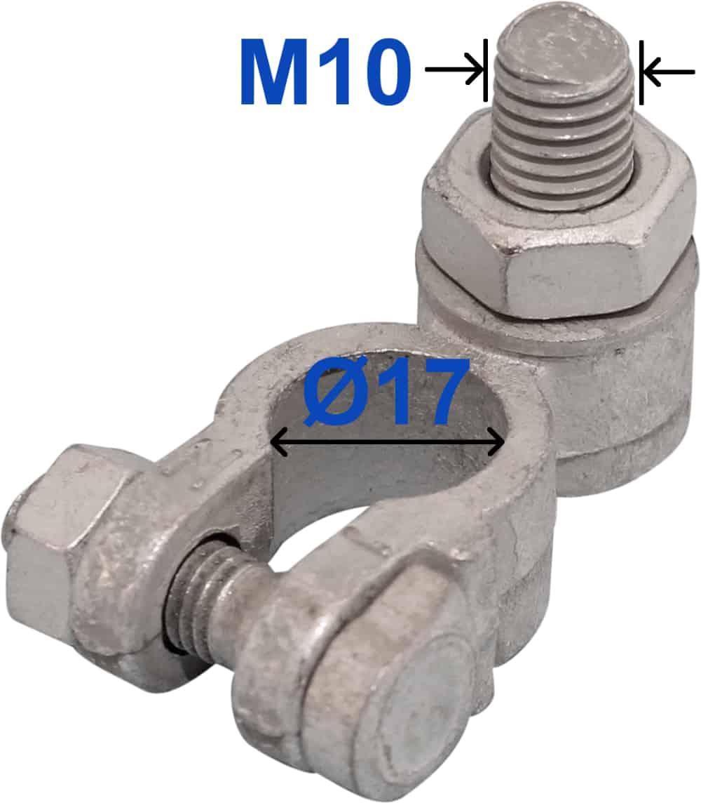 Batteri Polsko minus 17 mm Bolt M10 x 22 mm 228000 RACO