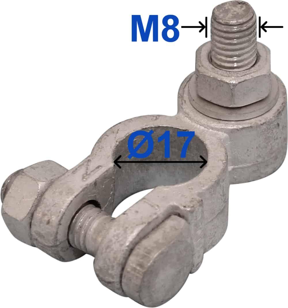 Batteri Polsko minus 17 mm Bolt M8 x 22 mm 230000 RACO