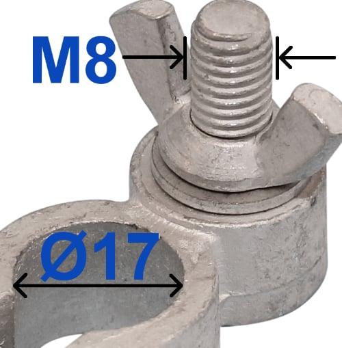 Batteri Polsko minus 17 mm Vingemøtrik 230003 RACO