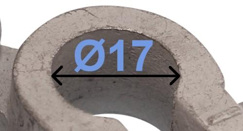 Batteri Polsko minus 17 mm venstre vinklet DIN 72331 form B 236002 RACO