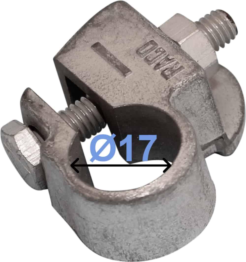 Batteri Polsko minus 17 mm Loddefri adapter til Ford 250000 RACO
