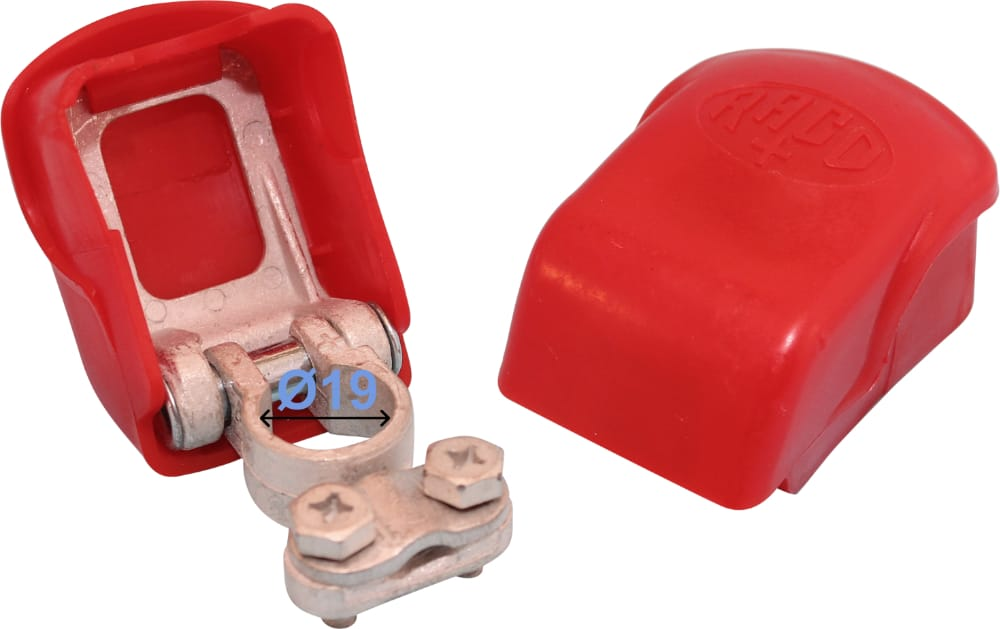 Battery Terminal Positive Plus 19 mm Easy Click Red 255000 RACO