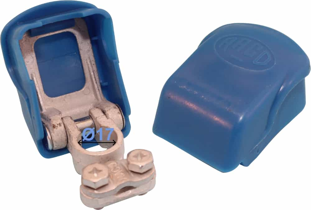 Battery Terminal Negative Minus 17 mm Easy Click Blue 256000 RACO