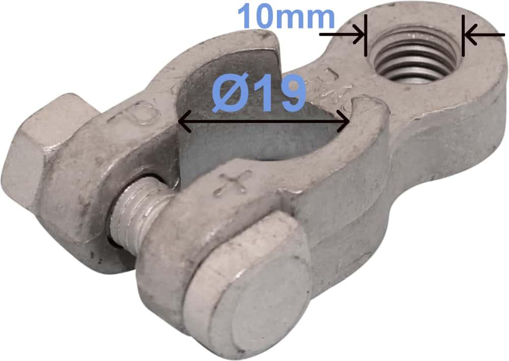 Batteri Polsko plus 19 mm 10 mm gevind 257000 RACO