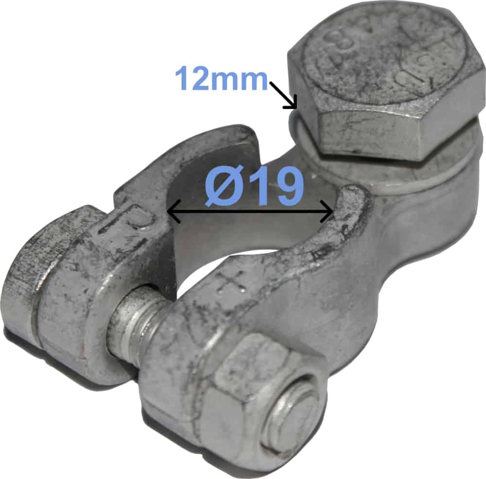 Batteri Polsko plus 19 mm 12 mm polt 259002 RACO