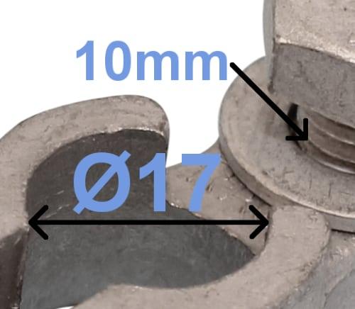 Batteri Polsko minus 17 mm 10 mm polt 260002 RACO