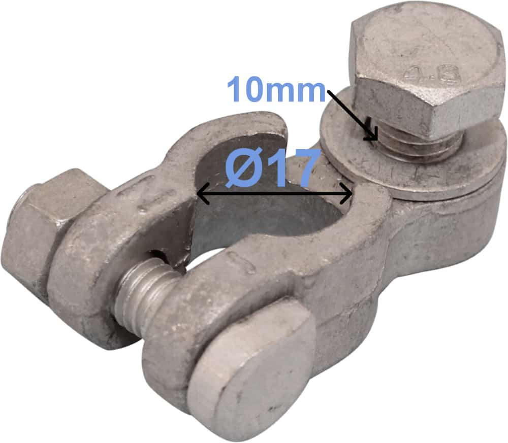 Battery Terminal Negative Minus 17 mm 10 mm bolt 260002 RACO