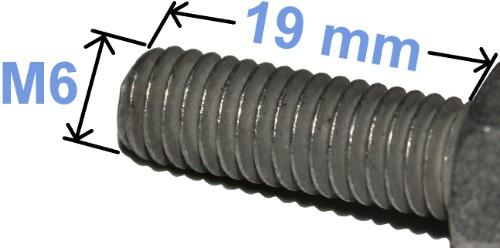Batteri Polsko Bolt pozi kærv 4,8 M6 x 19 mm 4005 RACO