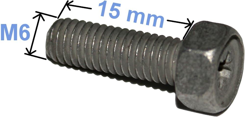 Batteri Polsko Bolt pozi kærv 4,8 M6 x 15 mm 4006 RACO