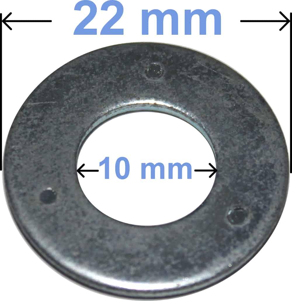 Batteri Polsko Jernskive M10 Ø22 4011 RACO