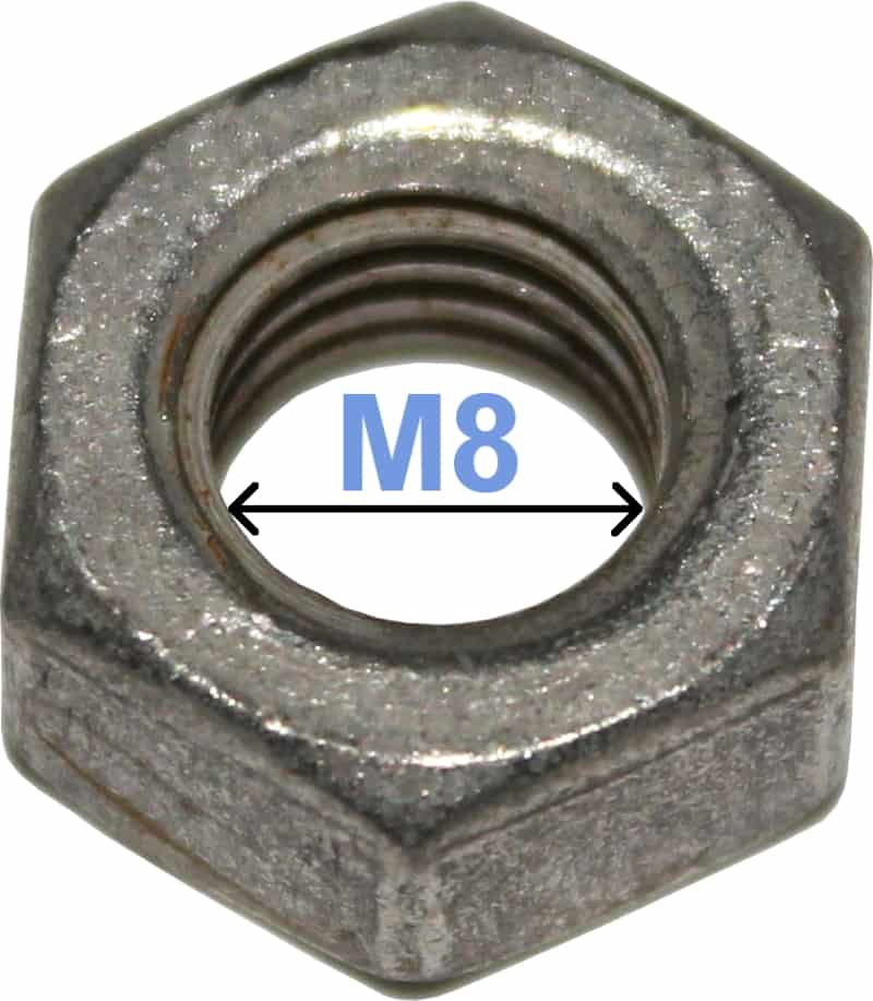Batteri Polsko Møtrik M8 6-kantet 4020 RACO