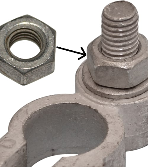 Battery Terminal Nut M8 6-edged 4020 RACO