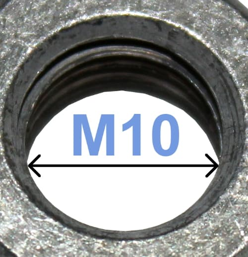 Battery Terminal Nut M10 6-edged 4024 RACO