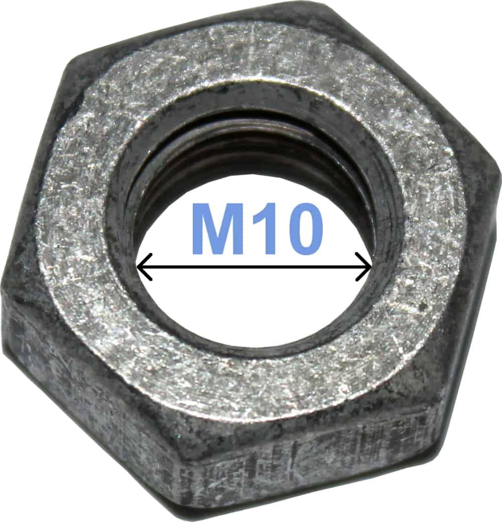 Batteri Polsko Møtrik M10 6-kantet 4024 RACO