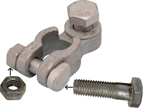 Battery Terminal Bolt with nut M8 x 28 mm 926000 RACO