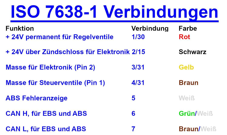 ISO 7638-1 Verbindungen DE