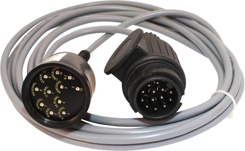 Anhänger prüfstecker 13-polig 12V Testkabel Testline Teststecker Trailer tester Raco