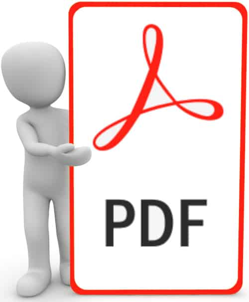 PDF-Symbol zeigt, dass dies ein PDF Dokument ist