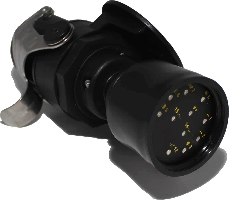 Anhänger prüfstecker 15-polig 24V Teststecker Trailer tester Raco
