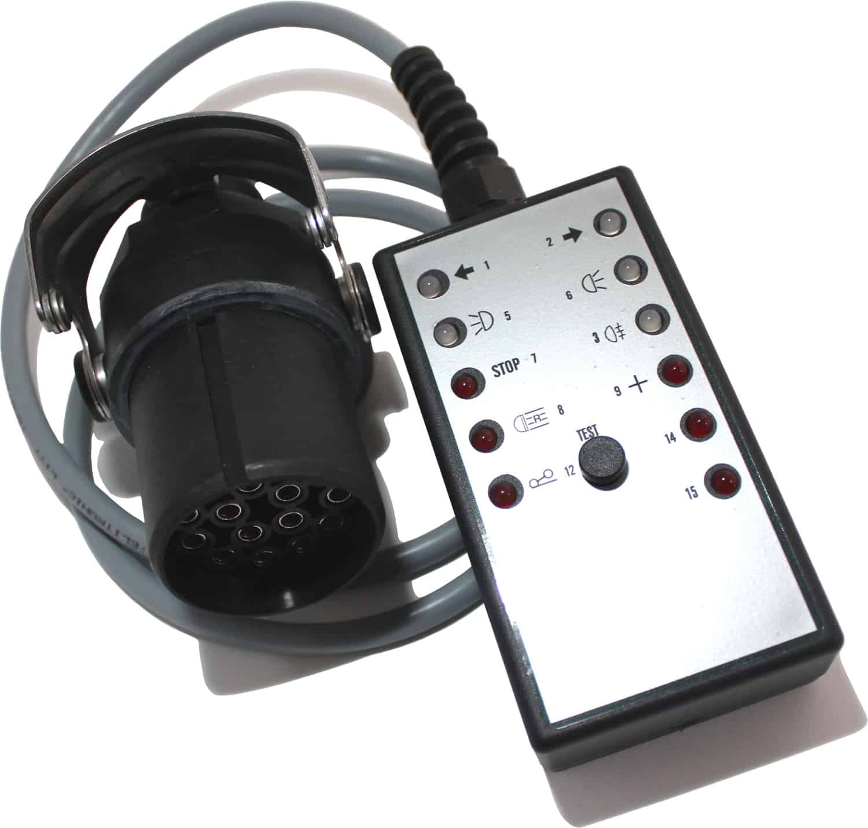 Anhänger prüfstecker 15-polig 24V Testkabel Testline Teststecker Trailer tester Raco