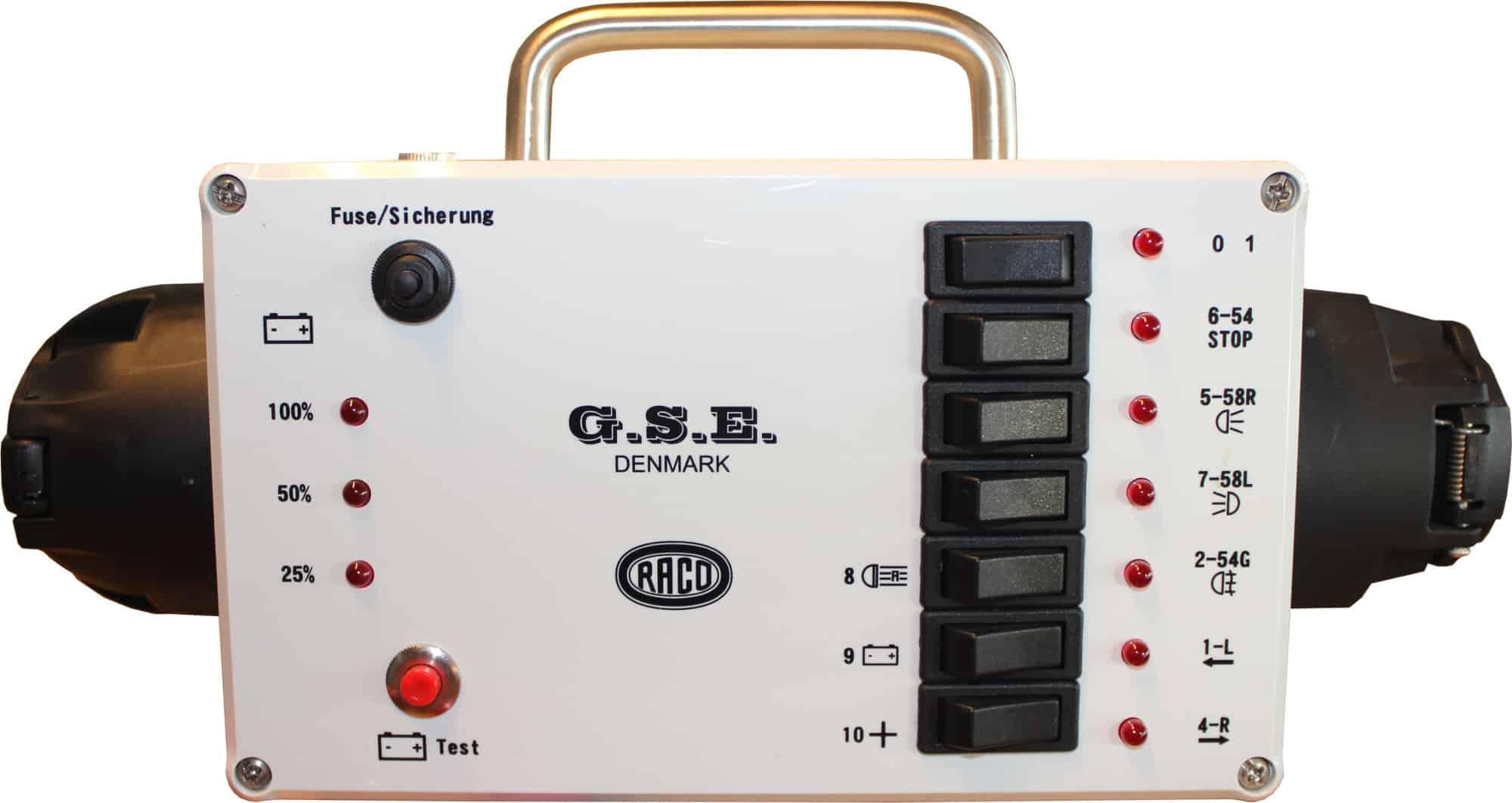 Anhänger lichttester 12V 7-pol 13-pol 12152 Raco