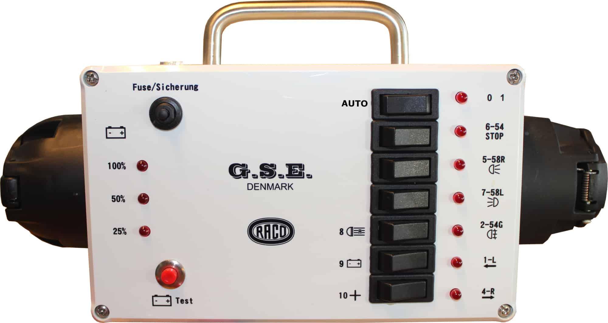 Trailer lys tester 12V 7-pol 13-pol 12156 Raco