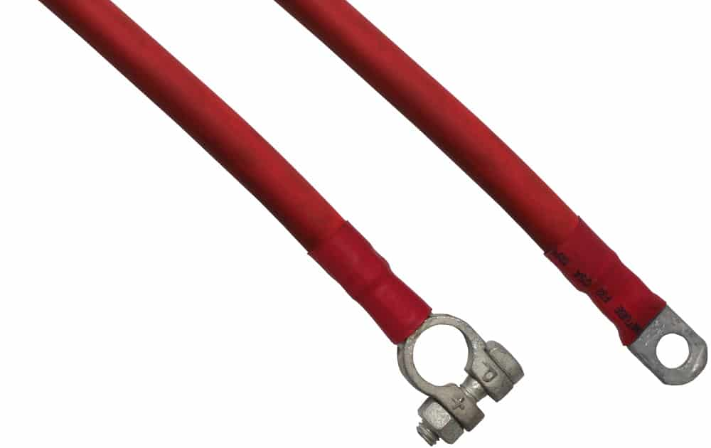 Batterikabel 50mm² Forbindelseskabel Starterkabel Plus Polsko Ringkabelsko Rød RACO
