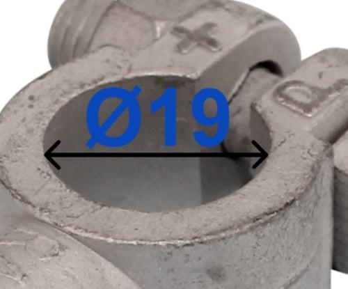 Batteri Polsko indvendig gevind DIN USA pol terminal klemme kabelsko klip + plus 19 mm bil lastbil motorcykel båd scooter camping traktor Messing fortinnet RACO 225000
