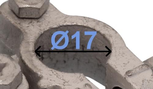 Batteri Polsko pol terminal klemme kabelsko klip - minus 17 mm venstre vinklet bil lastbil motorcykel båd scooter camping traktor Messing fortinnet Mest brugt 5 mm skruetilslutning RACO 240000