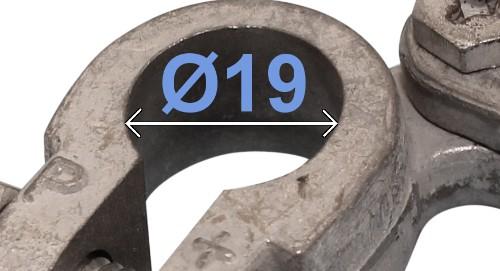 Batteri Polsko pol terminal klemme kabelsko klip + plus 19 mm højre vinklet bil lastbil motorcykel båd scooter camping traktor Messing fortinnet Mest brugt RACO 235001