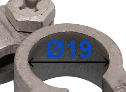 Batteri Polsko pol terminal klemme kabelsko klip + plus 19 mm venstre vinklet bil lastbil motorcykel båd scooter camping traktor Messing fortinnet Mest brugt RACO 203002