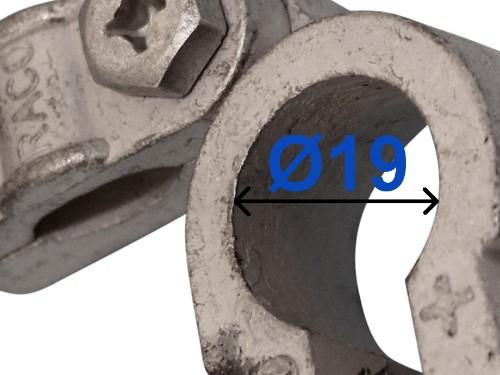 Batteri Polsko pol terminal klemme kabelsko klip + plus 19 mm venstre vinklet bil lastbil motorcykel båd scooter camping traktor Messing fortinnet Mest brugt RACO 235002
