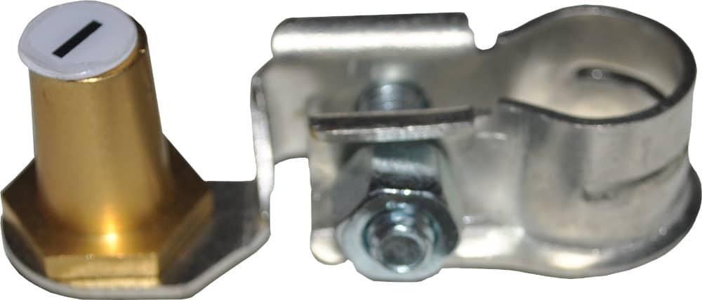 Batteri Polsko adapter konverter sæt pol terminal klemme kabelsko klip bil lastbil motorcykel båd scooter camping traktor minus RACO 266000